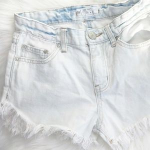 Free People Cutoffs White Fringe Jean Shorts 25
